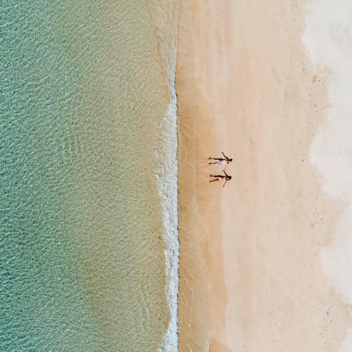 Immagine dall'alto Polynesia