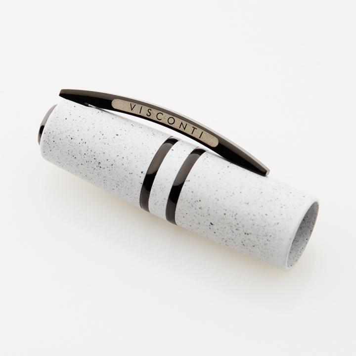 Cappuccio penna stilografica Visconti Homo sapiens lava color Bianco