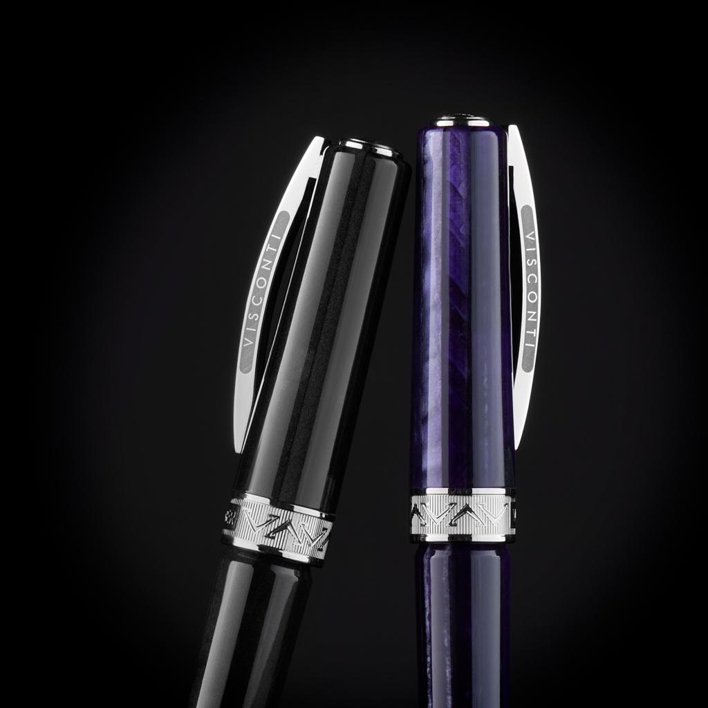 Penna Visconti collezione Voyager 2020 nera e viola